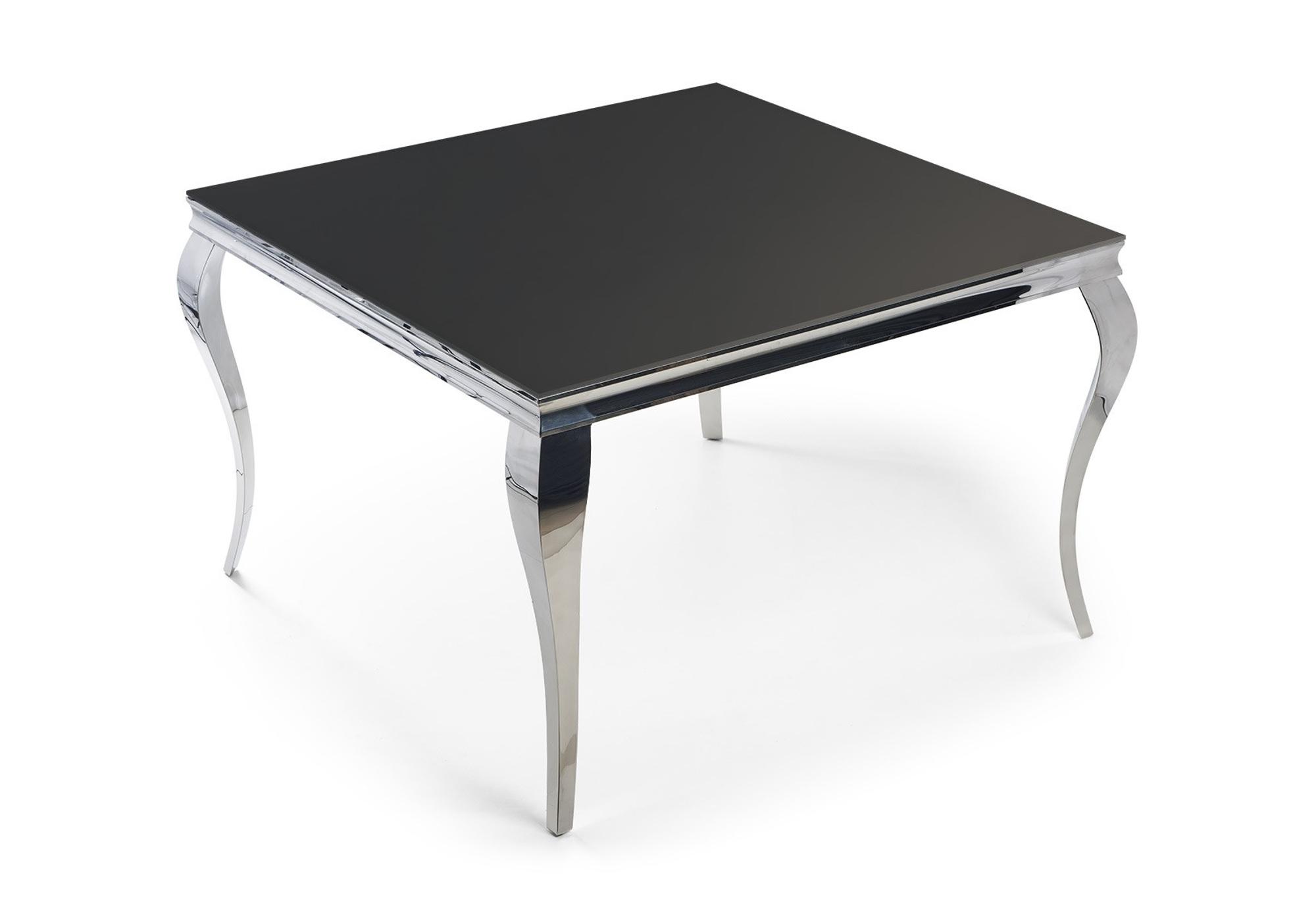 Table repas carré chromé noir NEO