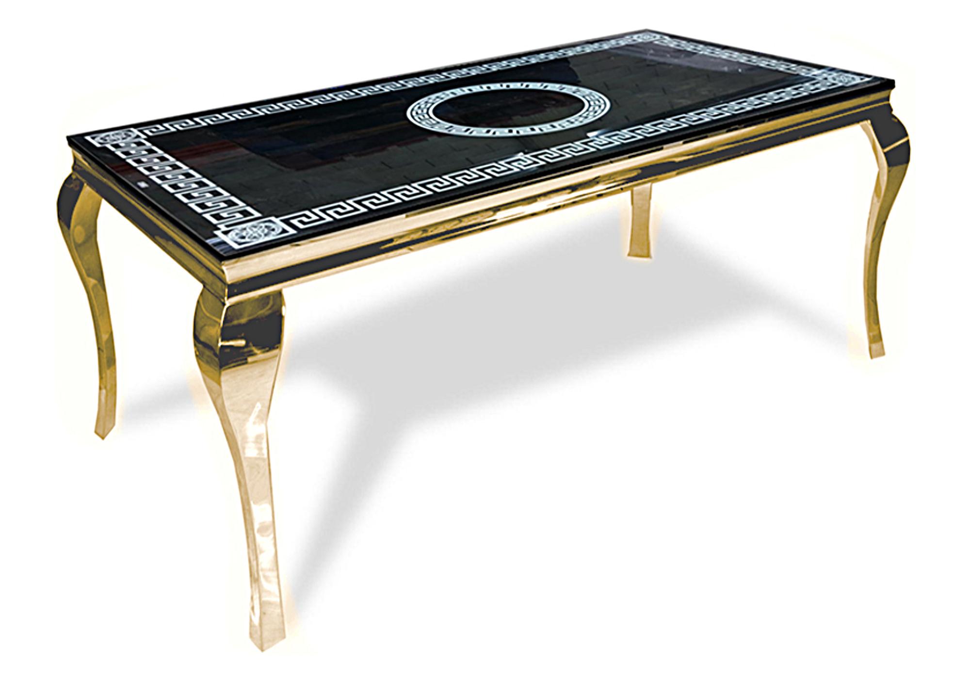 Table repas doré versace NEO