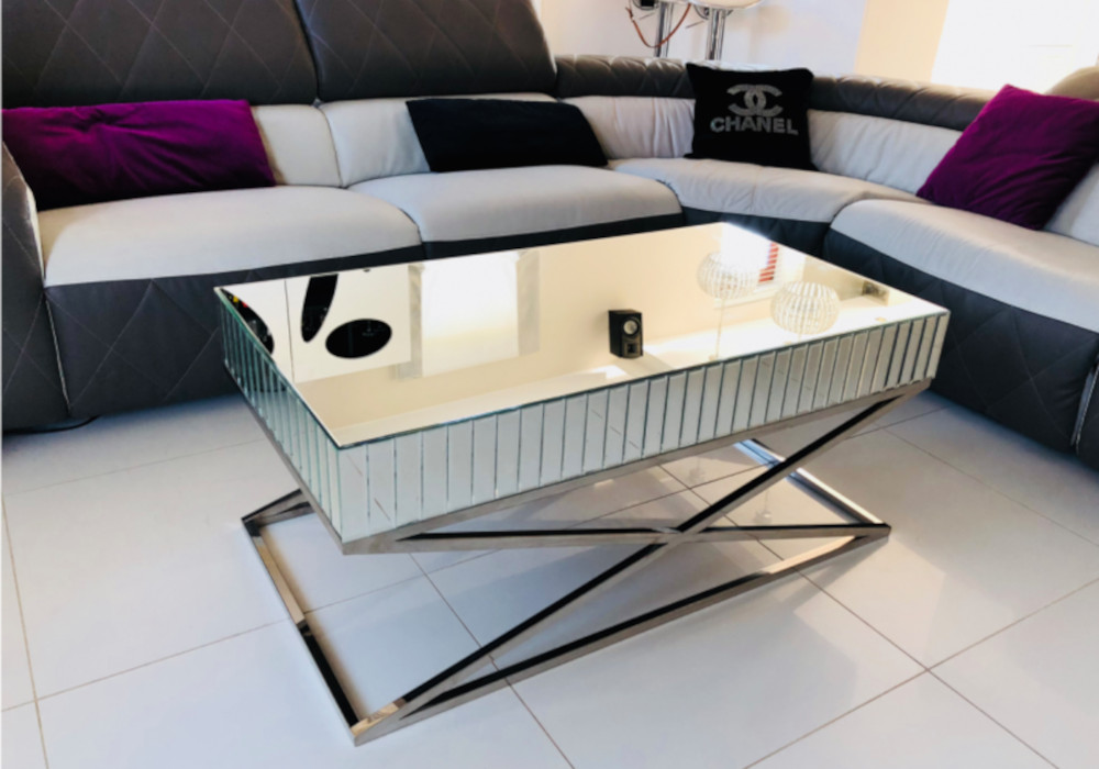 Table basse design miroir IRYS