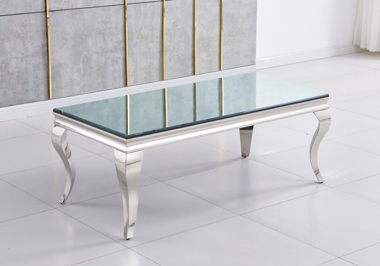 Table basse chromé miroir NEO