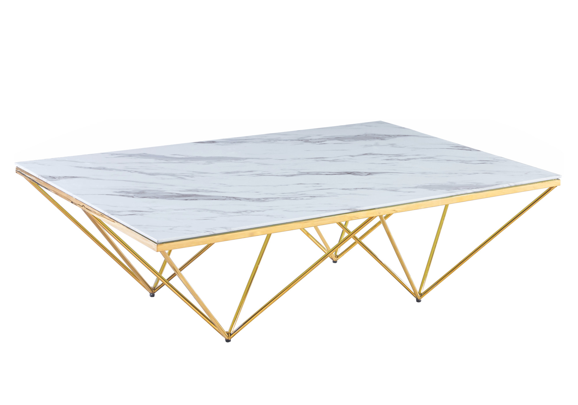 Table basse design doré marbre ILÉA