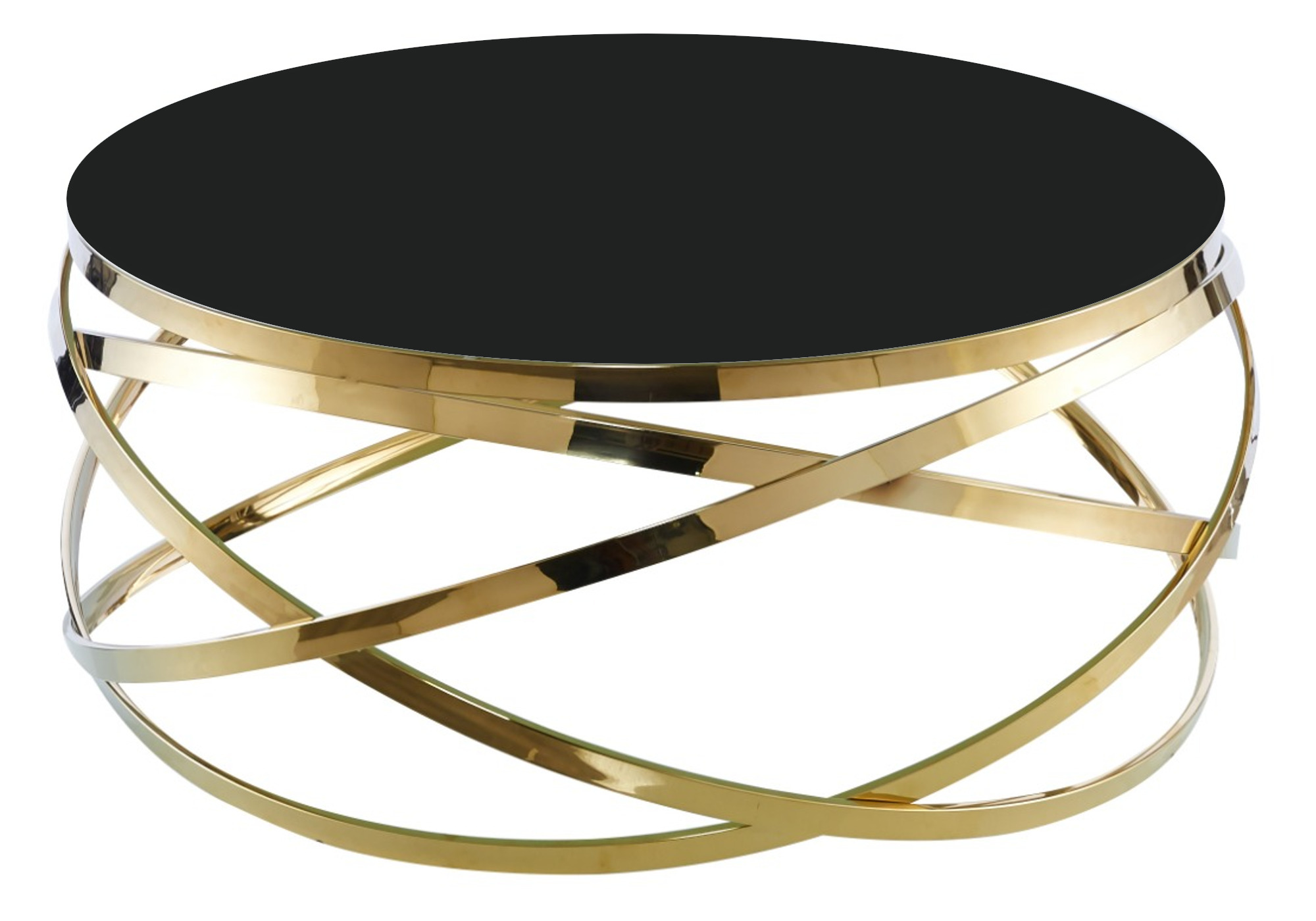 Table basse design doré noir EVO