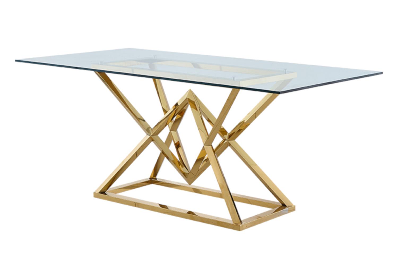 Table repas design doré LUXOR