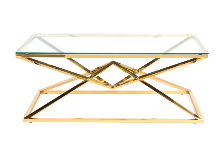 Table basse design doré LUXOR