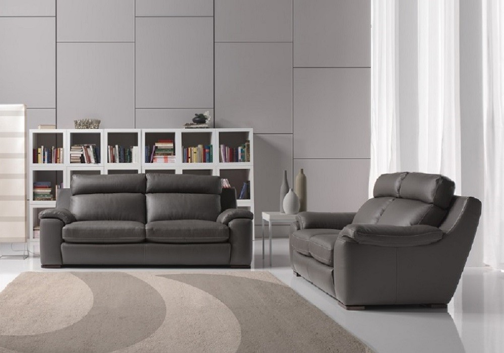 Canapé cuir relax gris ARGO