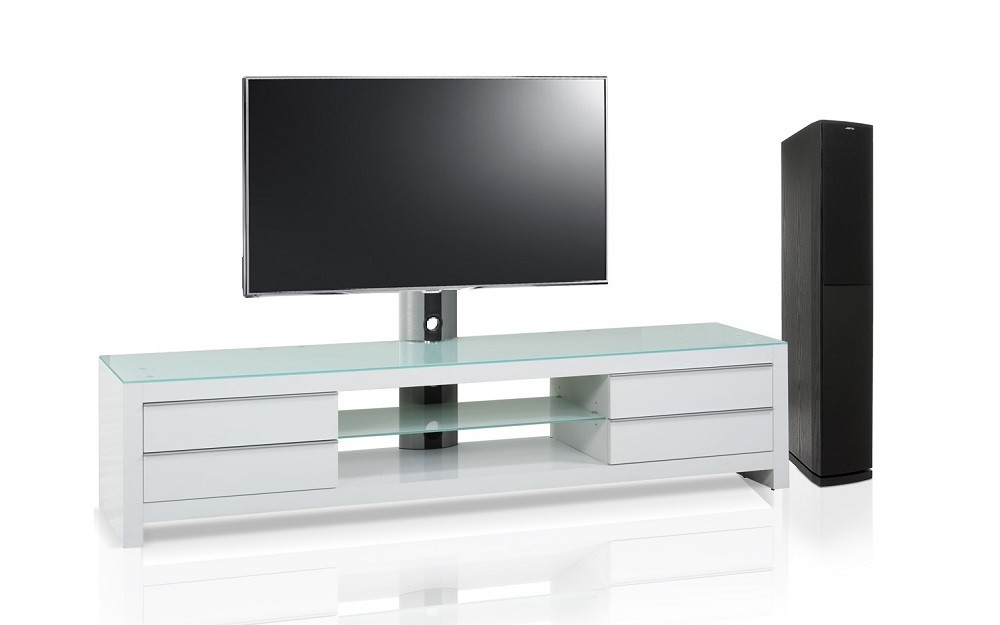 meuble blanc tv design blanc 200 cm s jour mur tv living. Black Bedroom Furniture Sets. Home Design Ideas