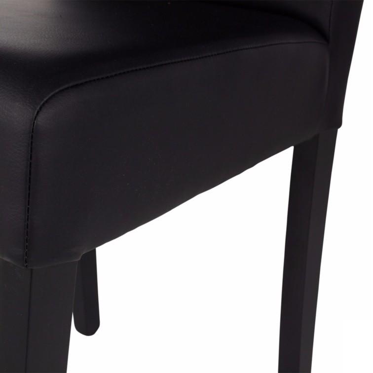 chaise-simili-cuir-pieds-laques-noir-dragon