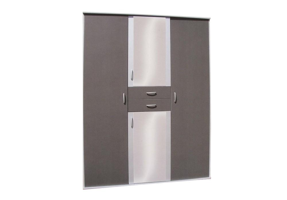 Armoire 4 portes 2 tiroirs BÉNI gris