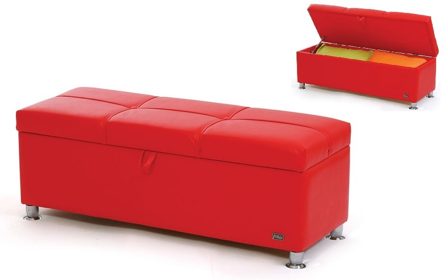 banc-bout-de-lit-coffre-simili-cuir-red