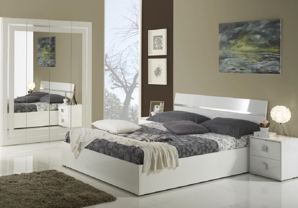 Chambre Complete Laque Blanc London Design Epuret Elegant Chic