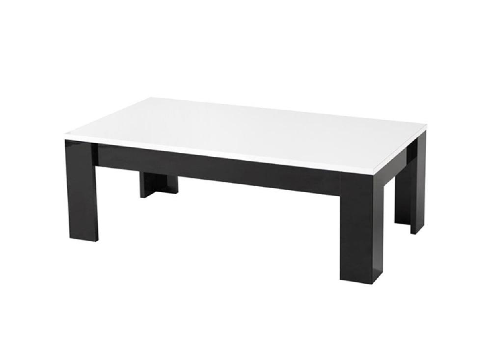 Table basse laqué noir blanc MODENA