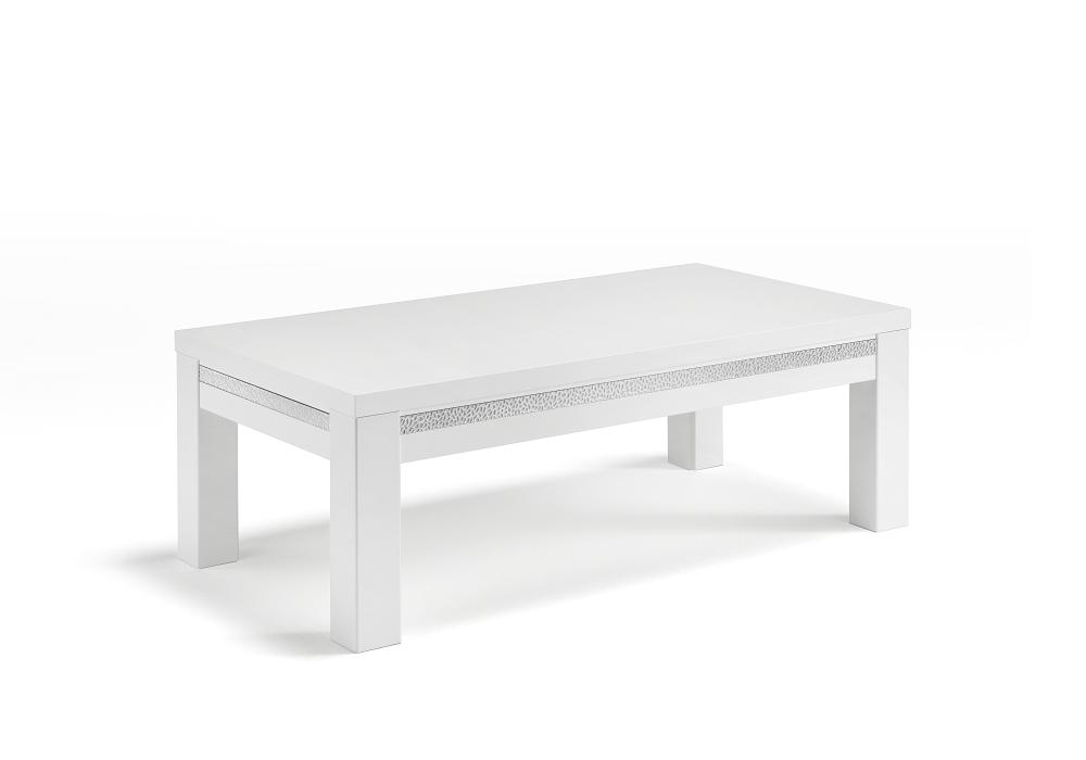 Table basse laqué blanc ROMA Crome
