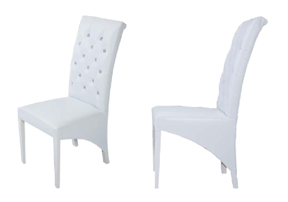 Lot 2 chaises simili blanc PARIS