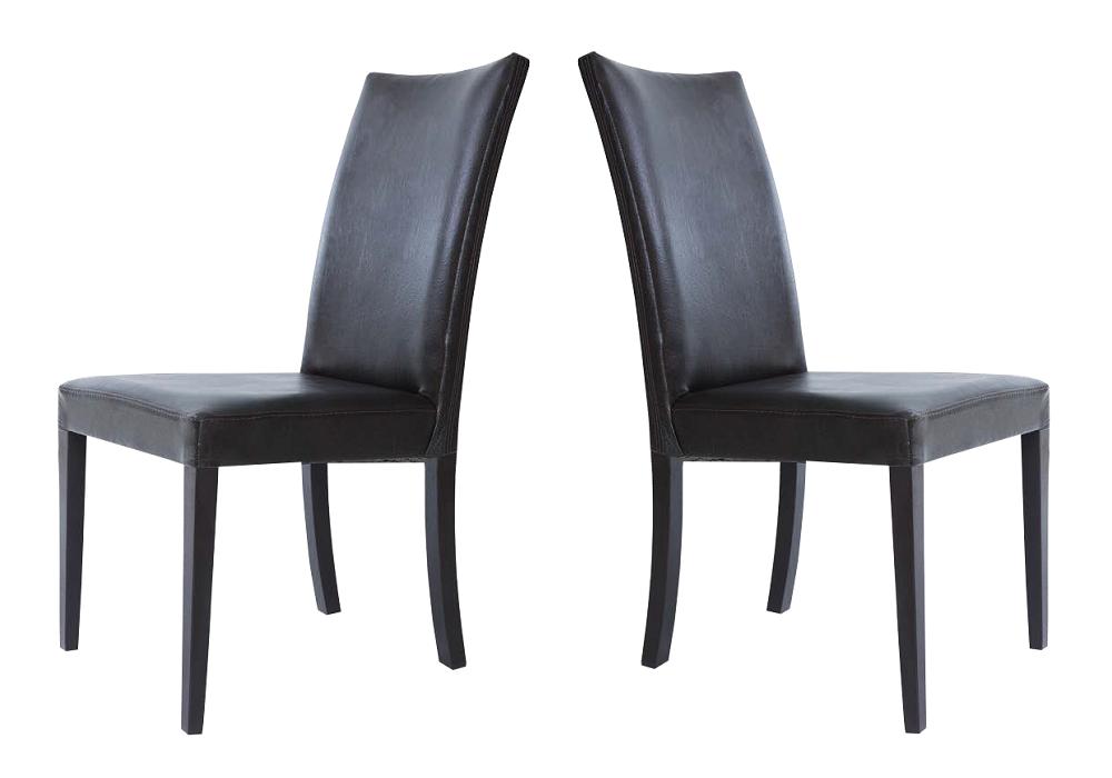 Lot 2 chaise simili noir LILLE