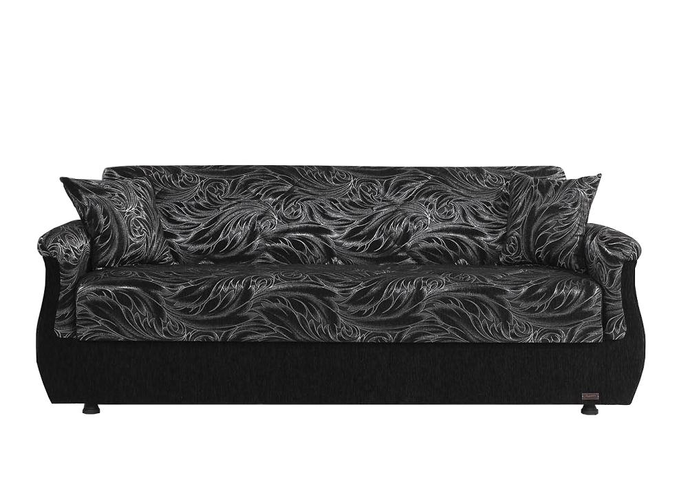 Canapé lit coffre oriental noir BUKET