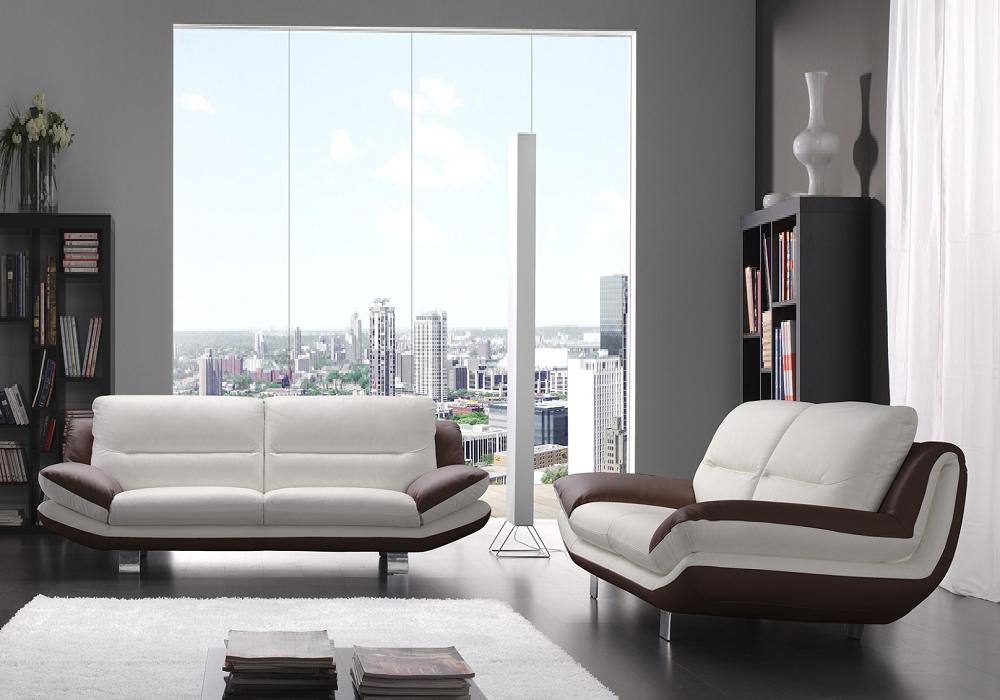 Canapé cuir design blanc choco BEA