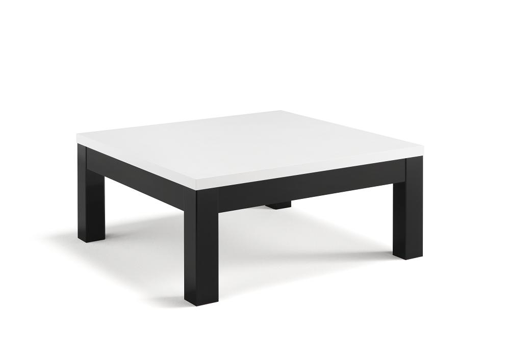 Table basse laqué noir blanc ROMA
