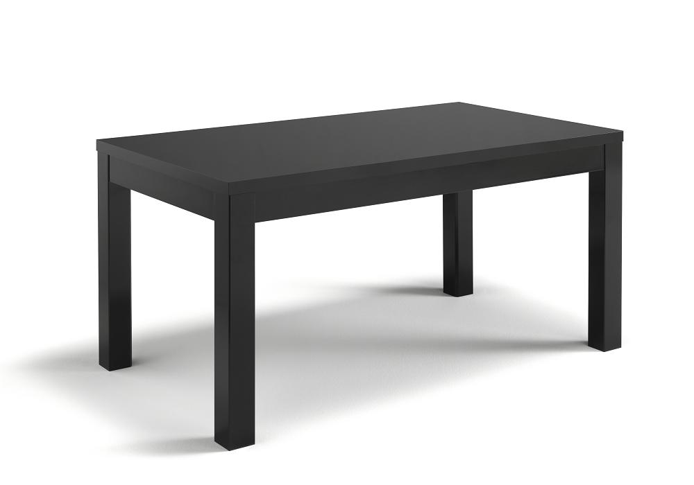 Table à manger et chaise laqué noir ROMA