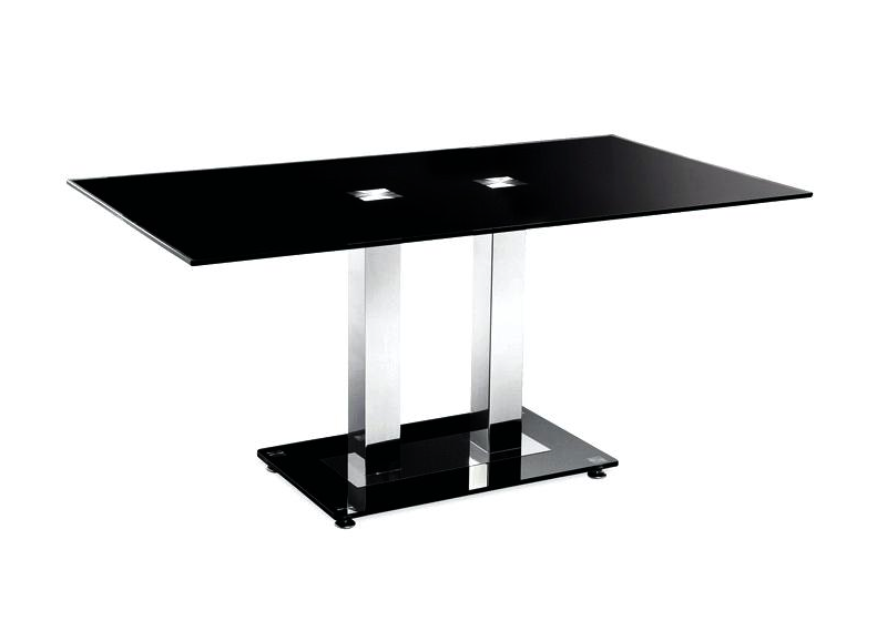 Table basse chromé verre trempé FLAT.1