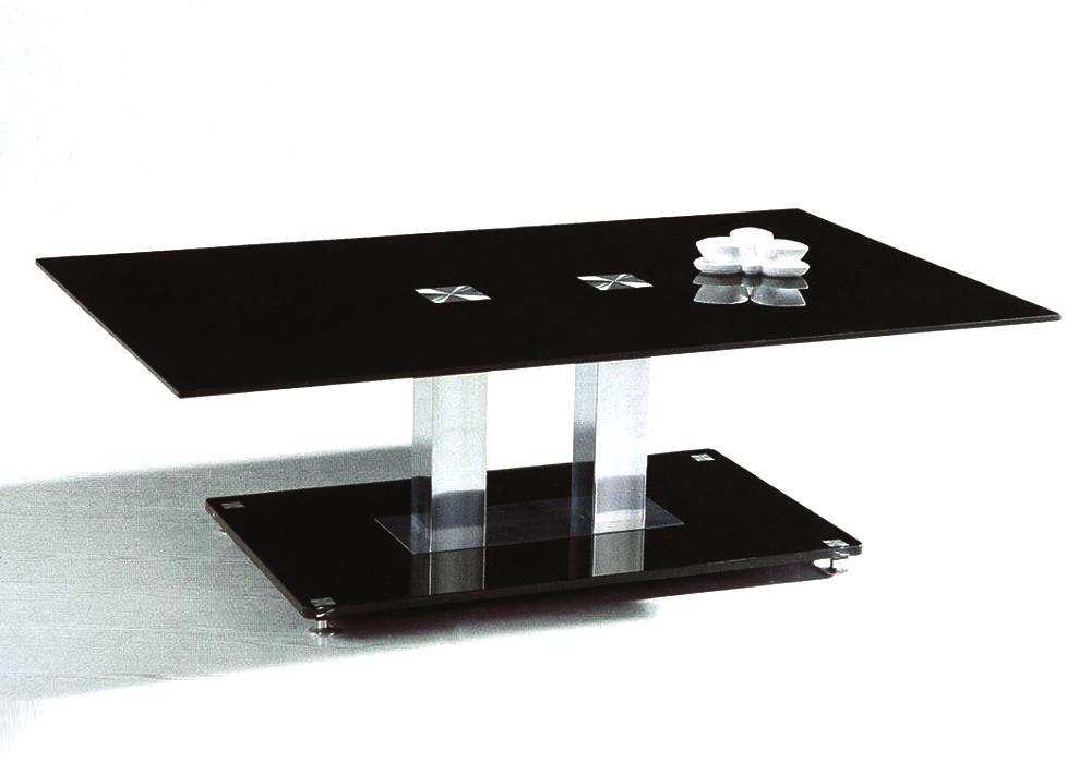 Table basse chromé verre trempé FLAT