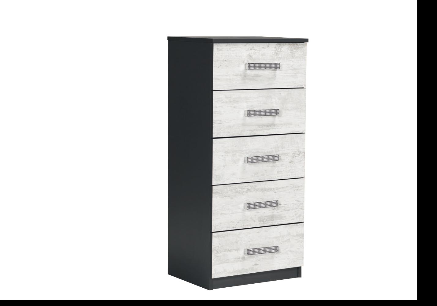 chiffonnier-5-tiroirs-noir-bois-blanci-ibiza