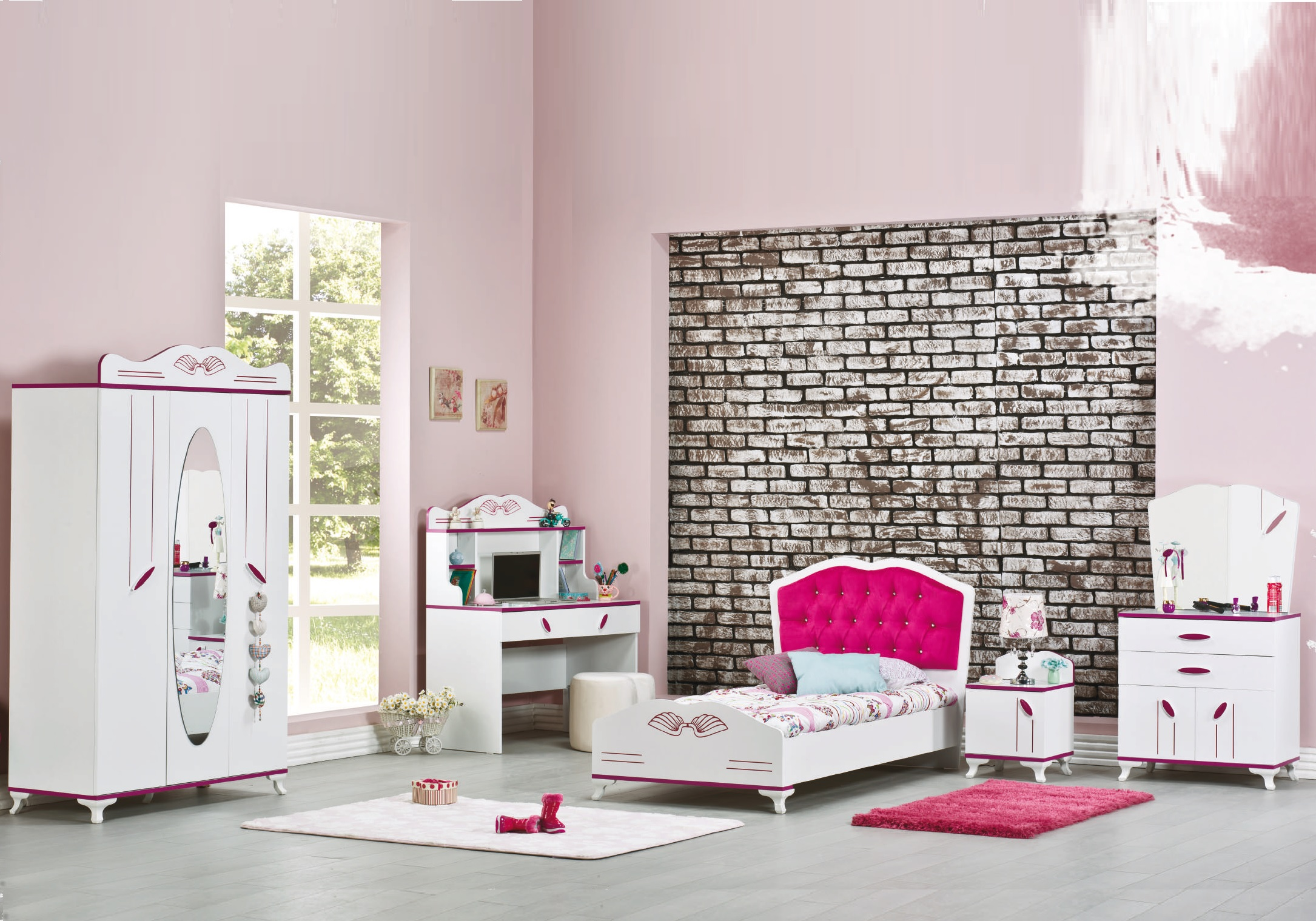 Model Chambre De Fille chambre enfant fille fuchsia angel