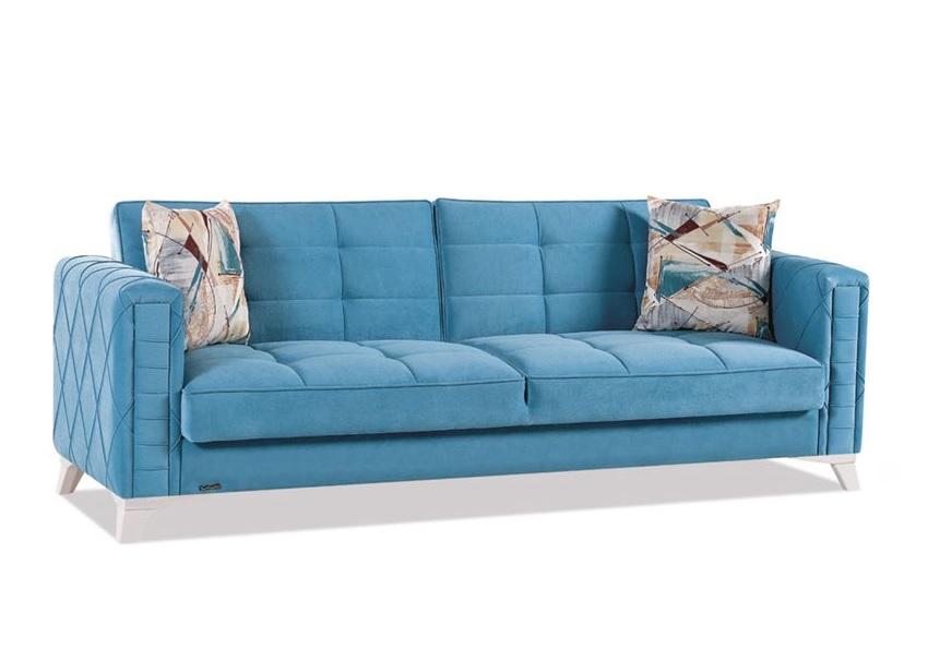 Canapé lit coffre bleu ICÔNE
