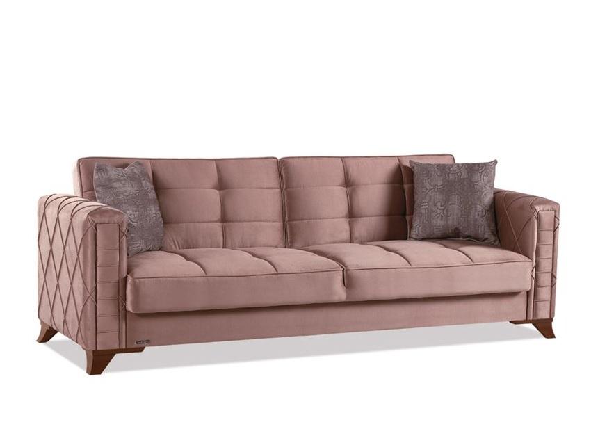 Canapé lit coffre marron ICÔNE