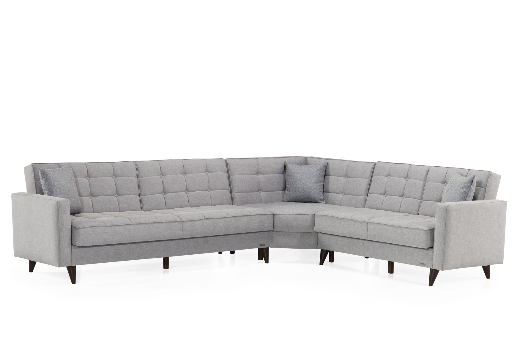 Canapé angle lit-coffre gris ORLANDO