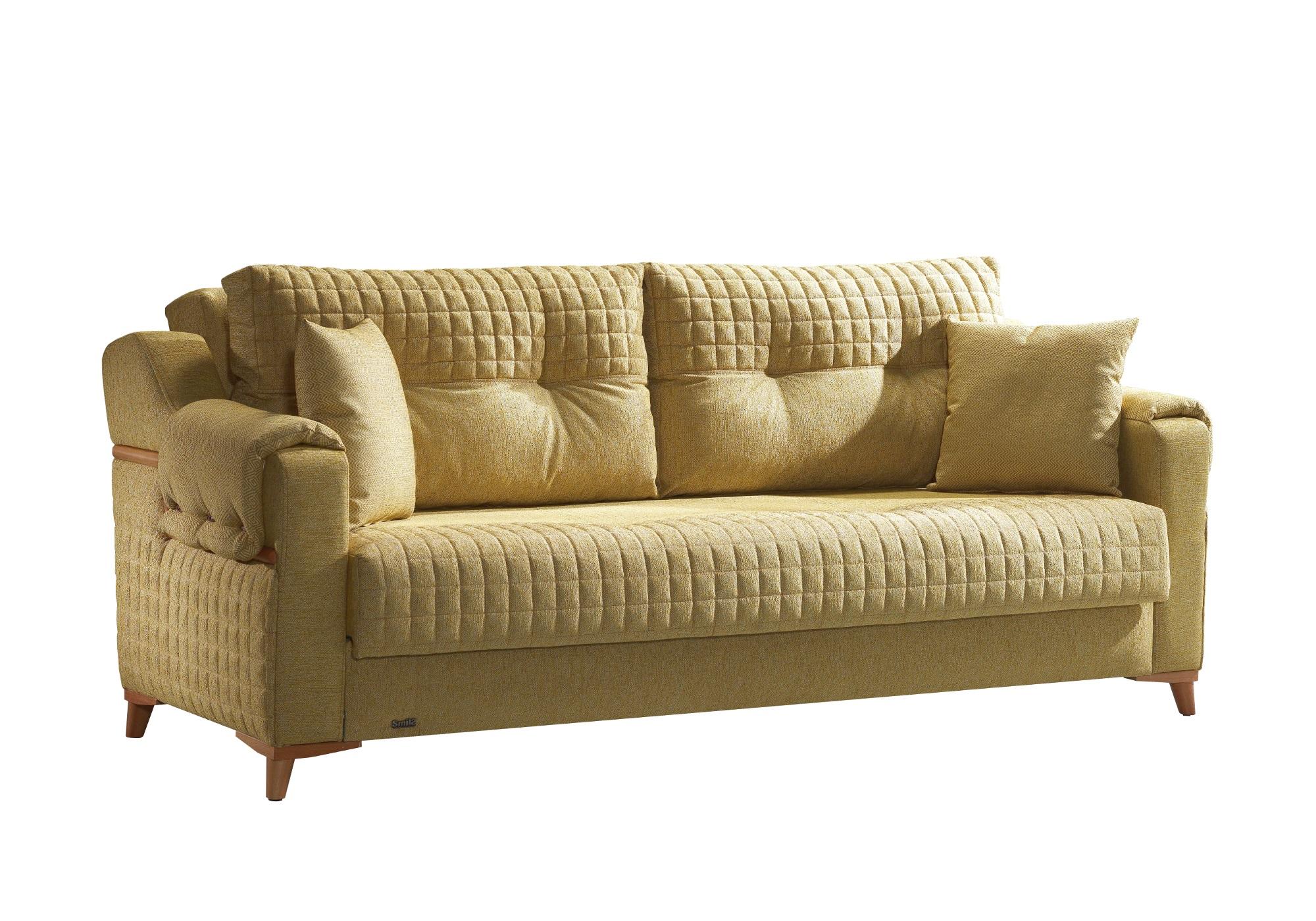 Canapé lit tissu jaune ÉROS