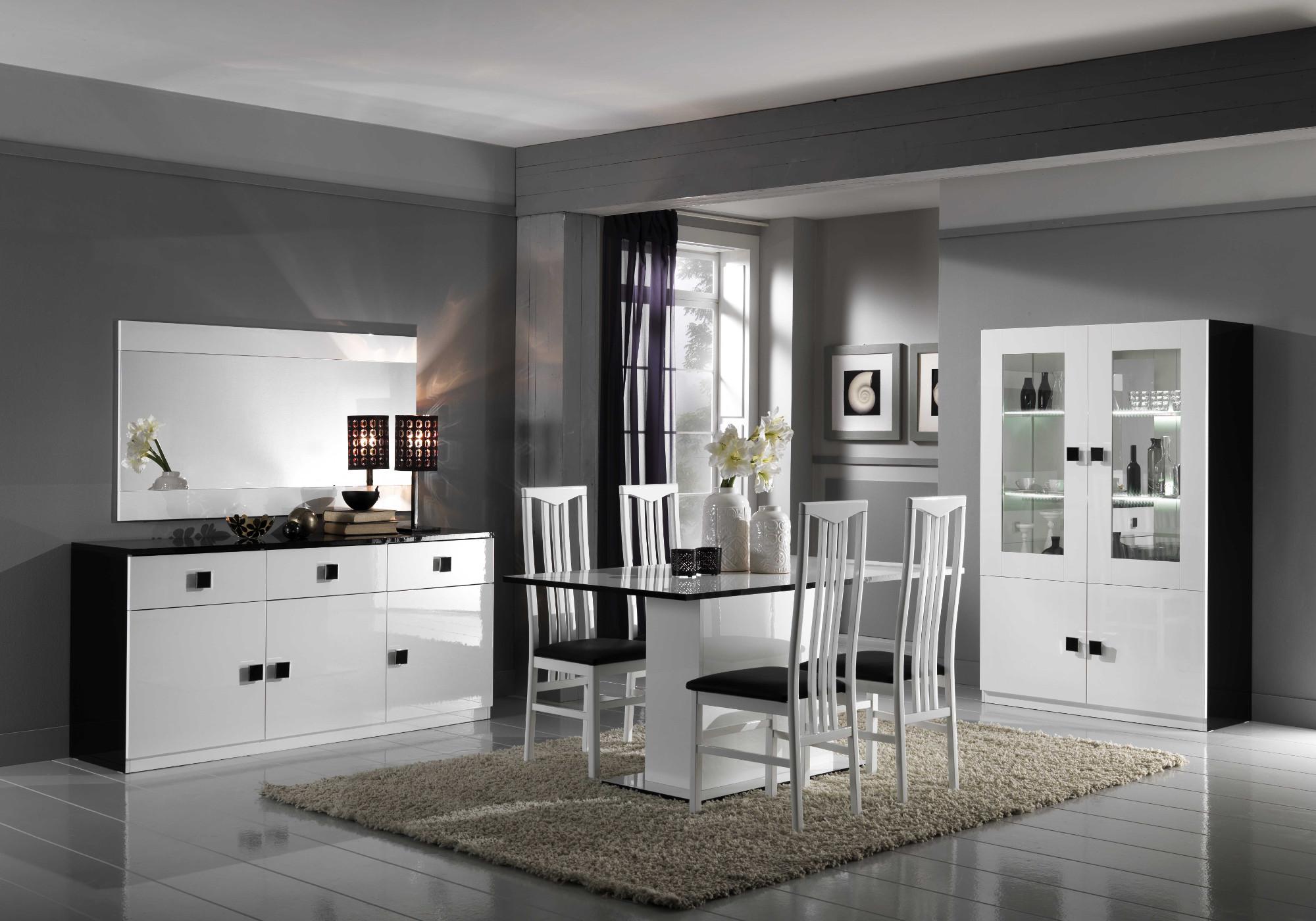Salle à manger noir blanc AURORA