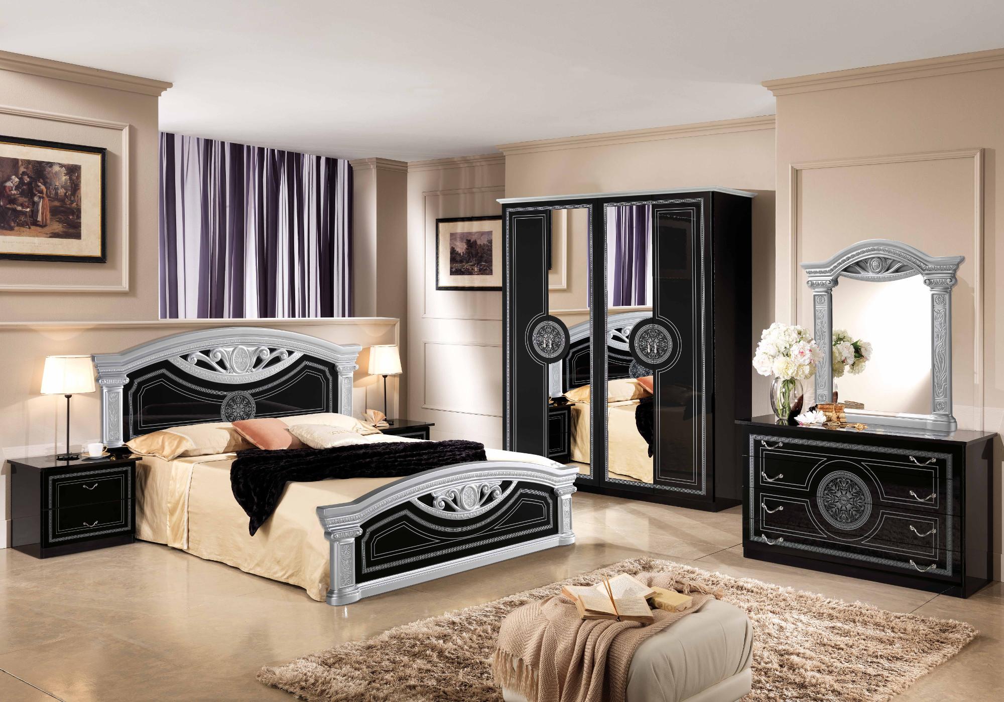 Chambre versace noir argent ROMA