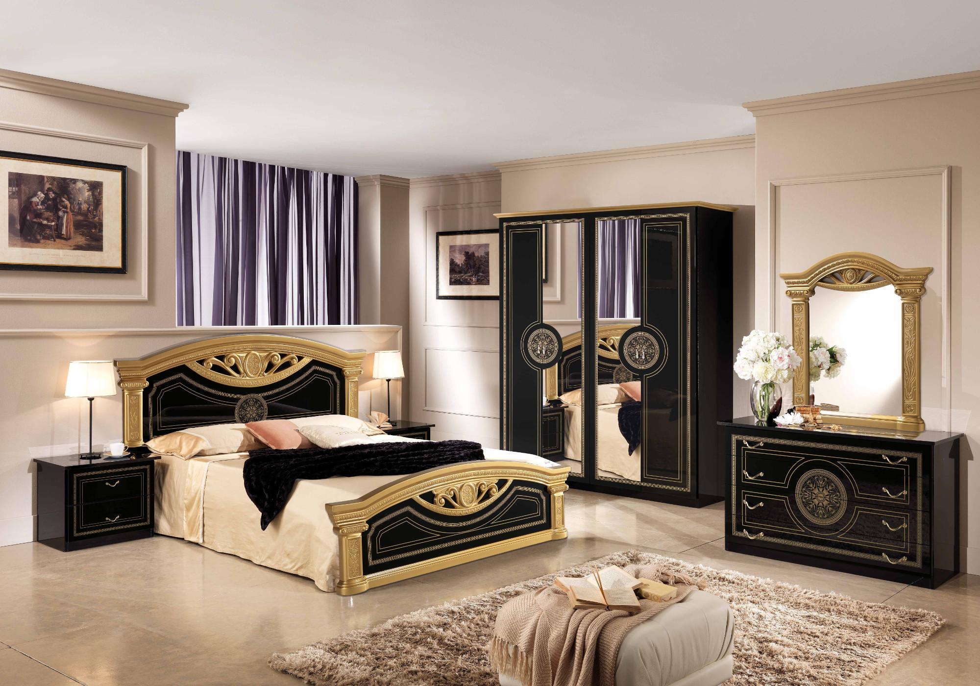 Chambre versace noir doré ROMA