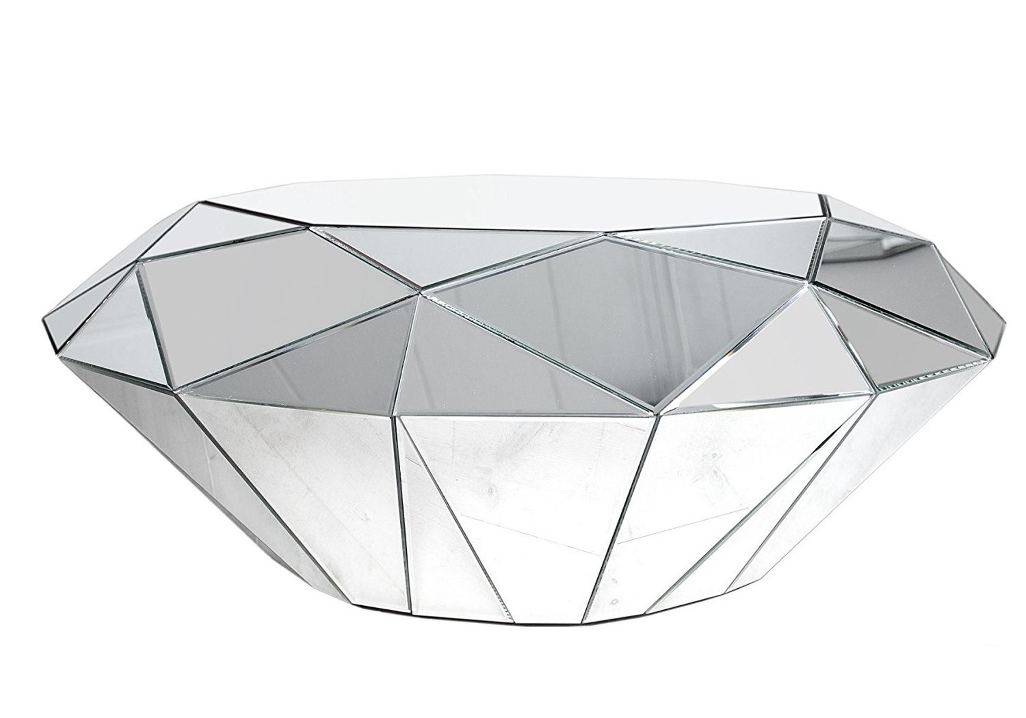 Table basse design miroir DIAMANT.1