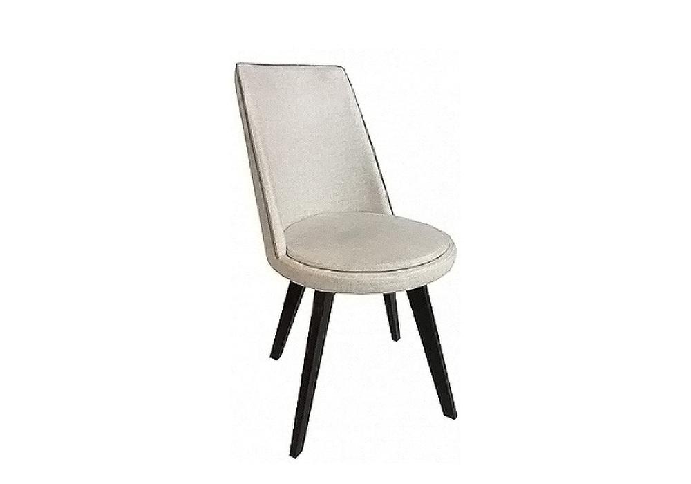 Chaise pivotante simili beige KARL