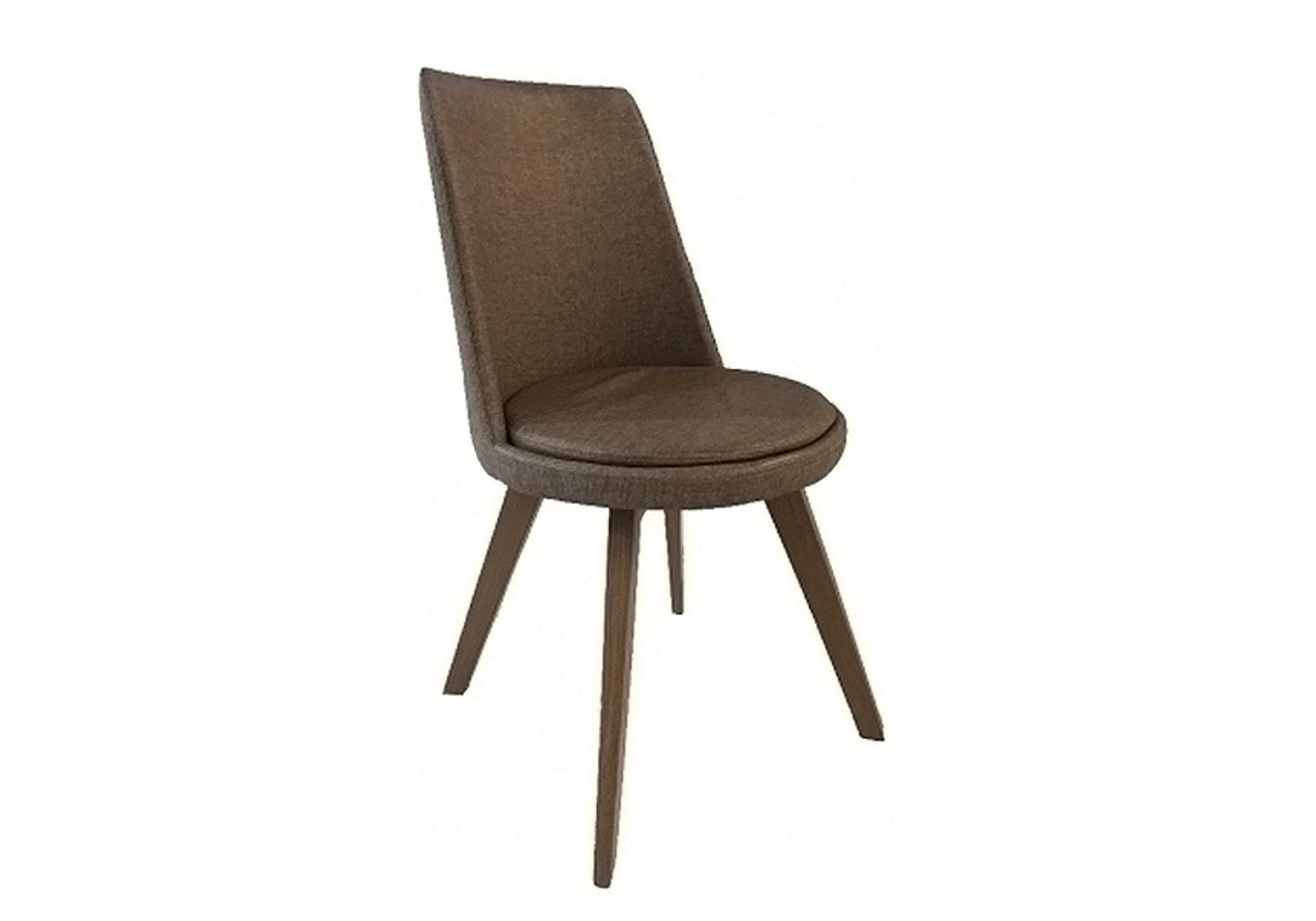 Chaise pivotante simili marron KARL