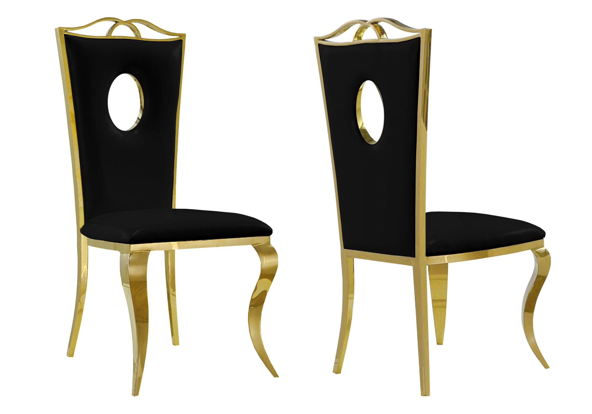 Chaises baroque doré noir PIA