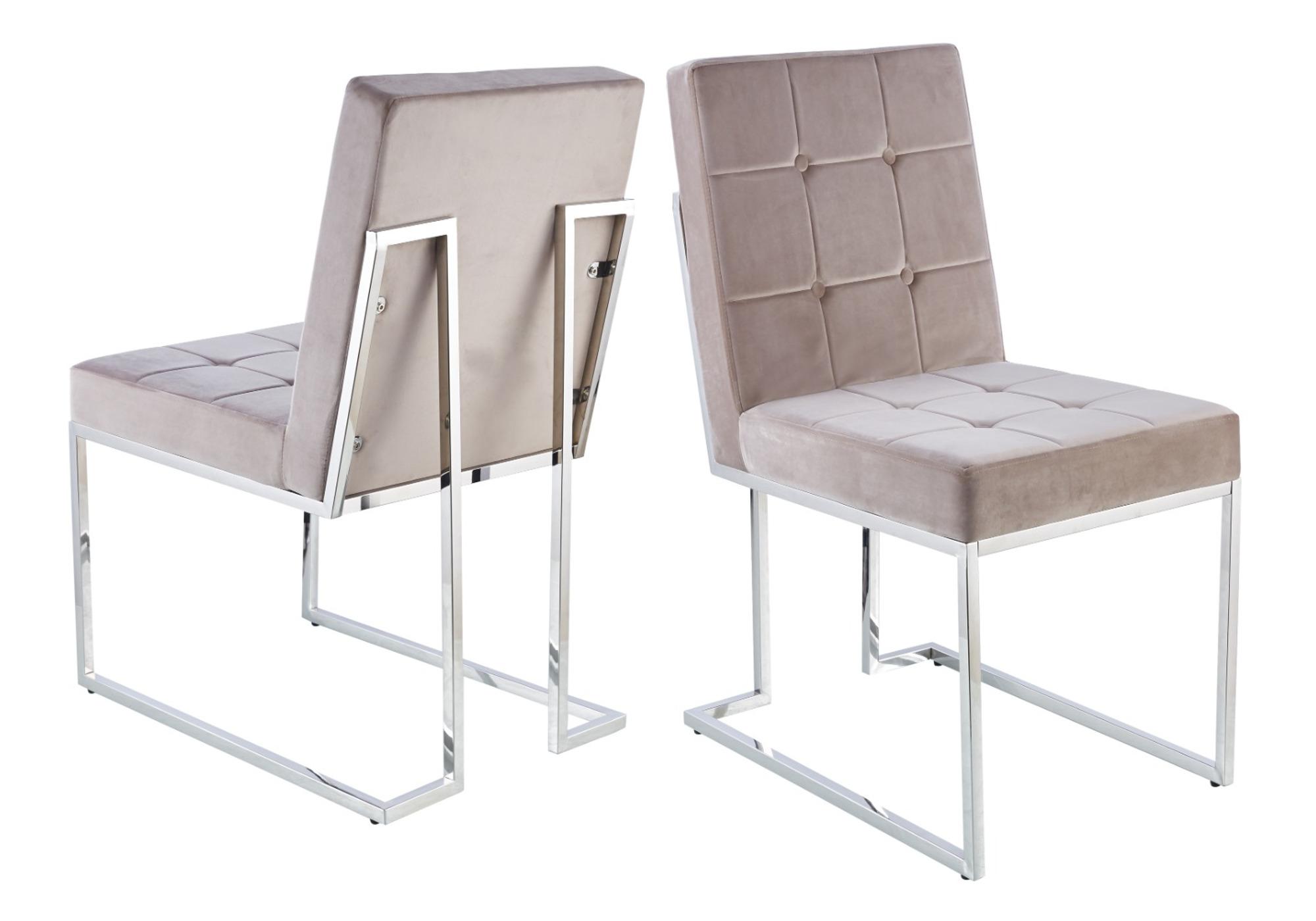 Chaises design capitonné moka RAY