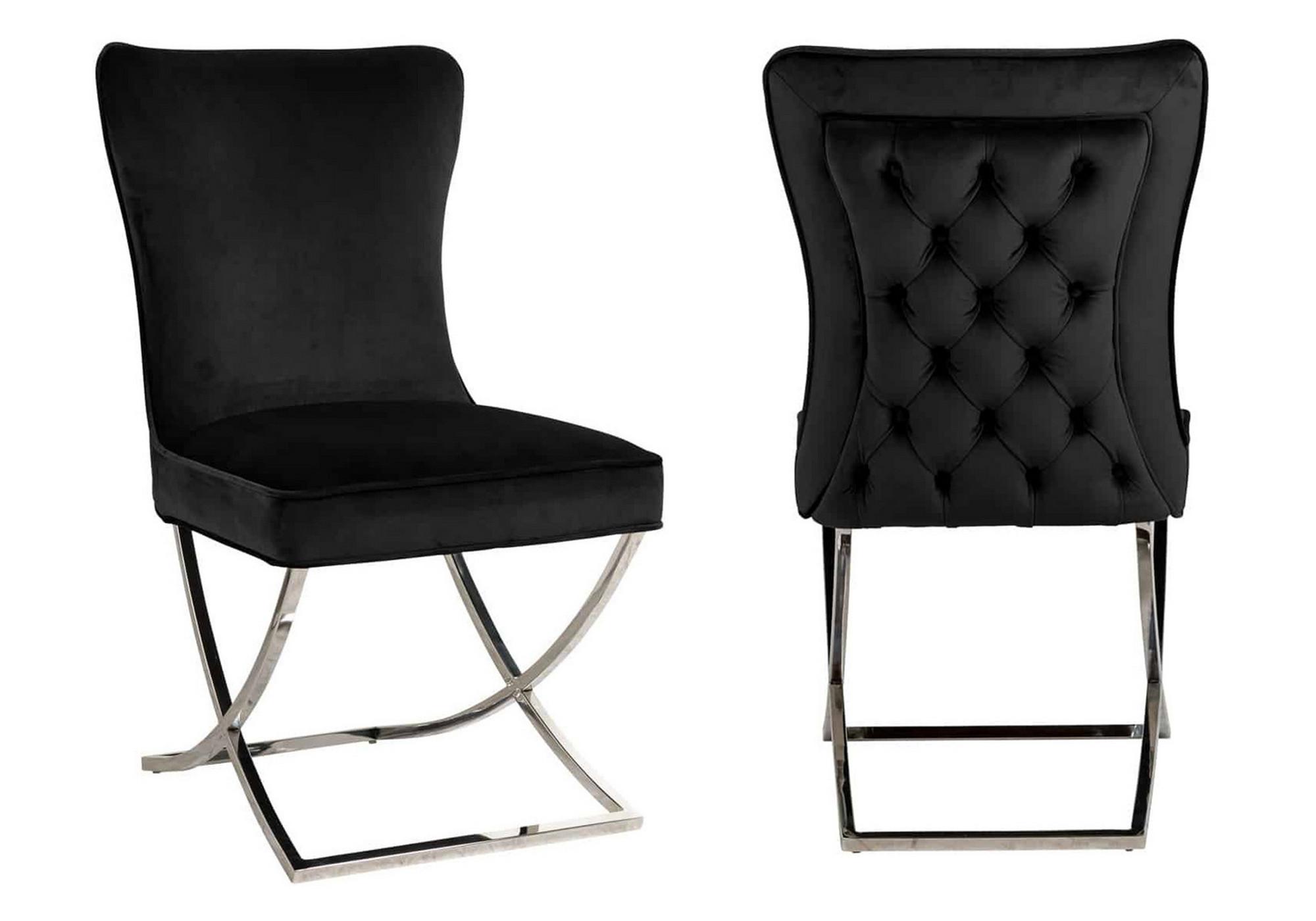 Chaises design capitonné noir ENZO