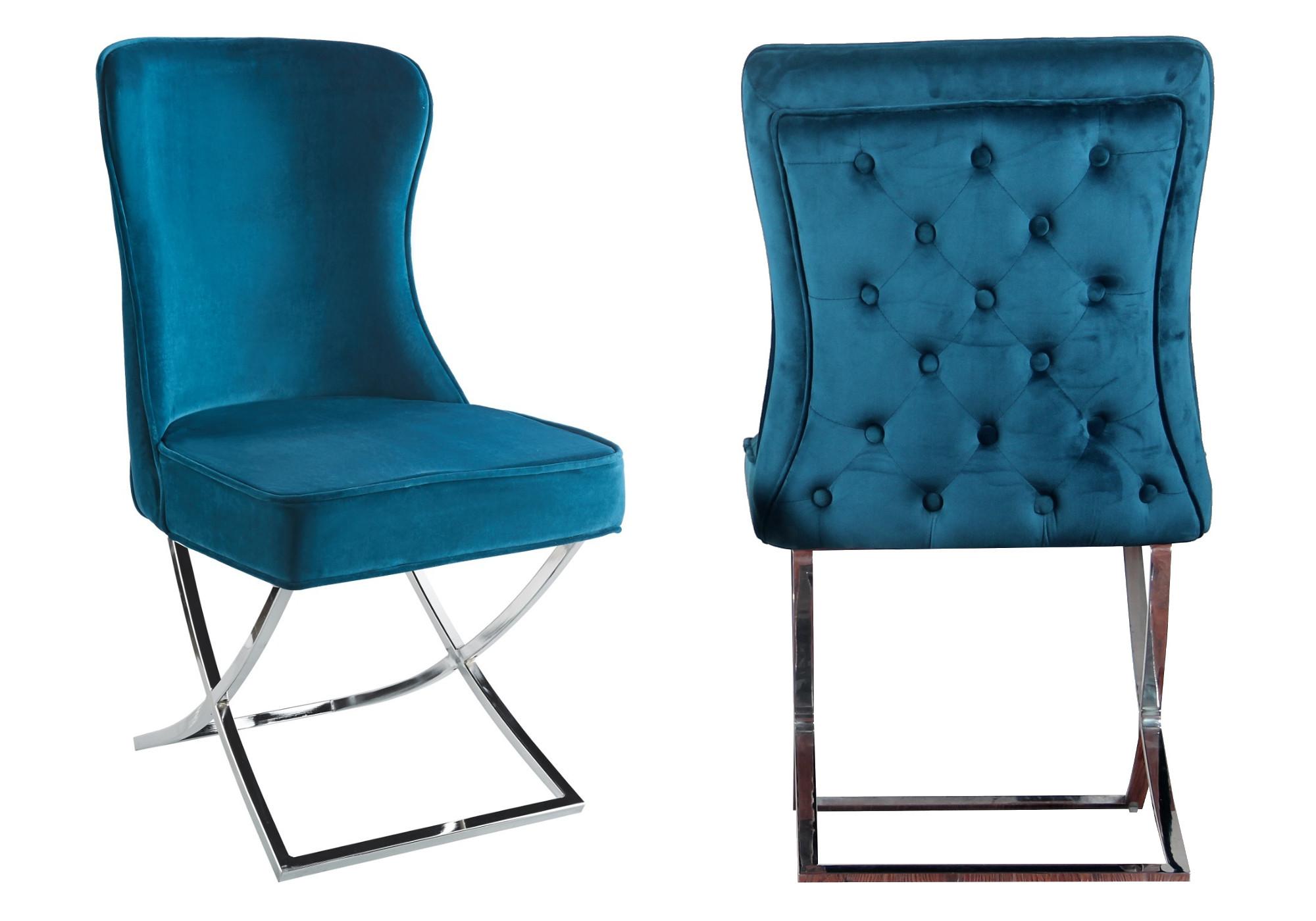 Chaises design capitonné vert ENZO