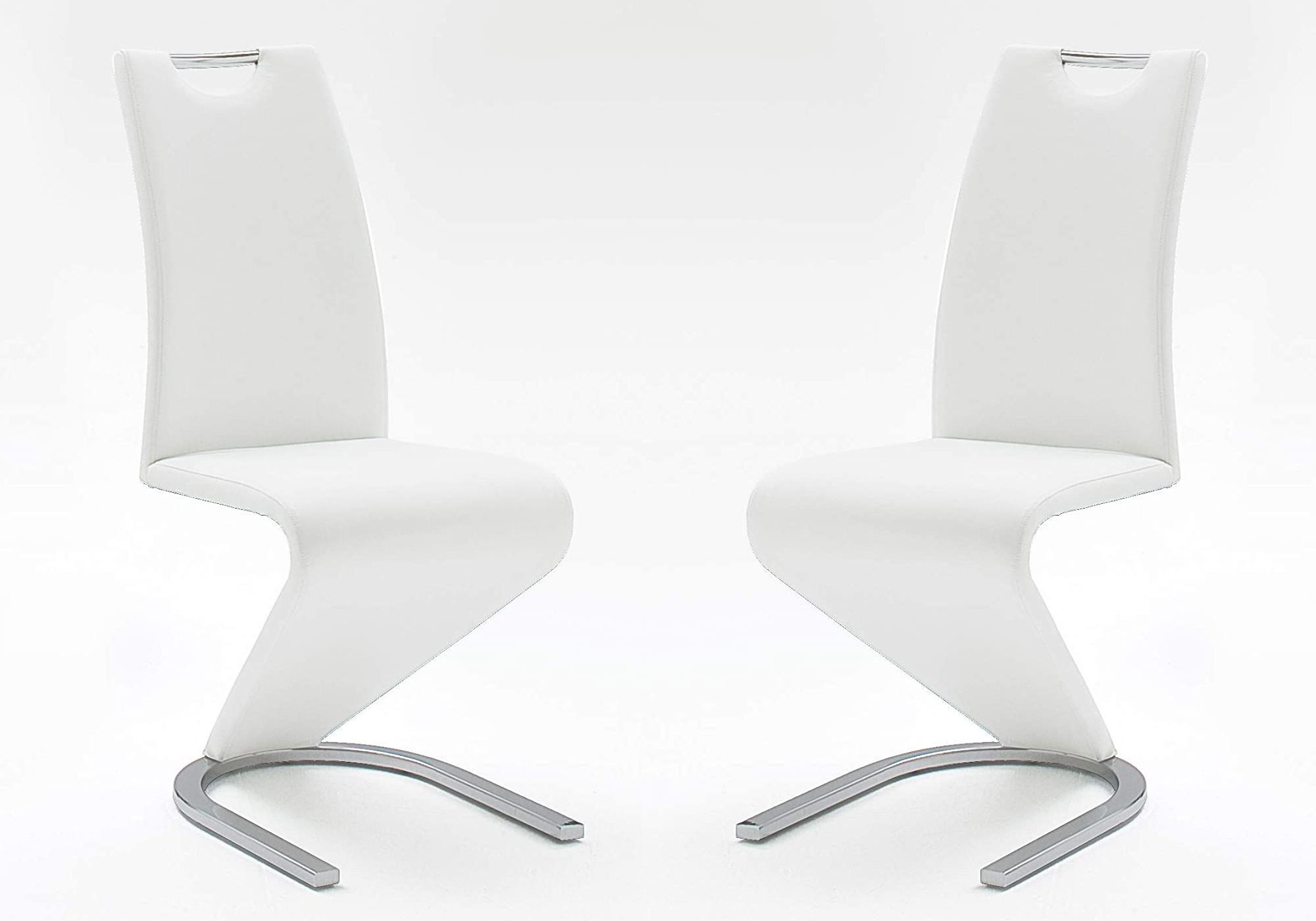 Chaises design chromé blanc AÉRIS