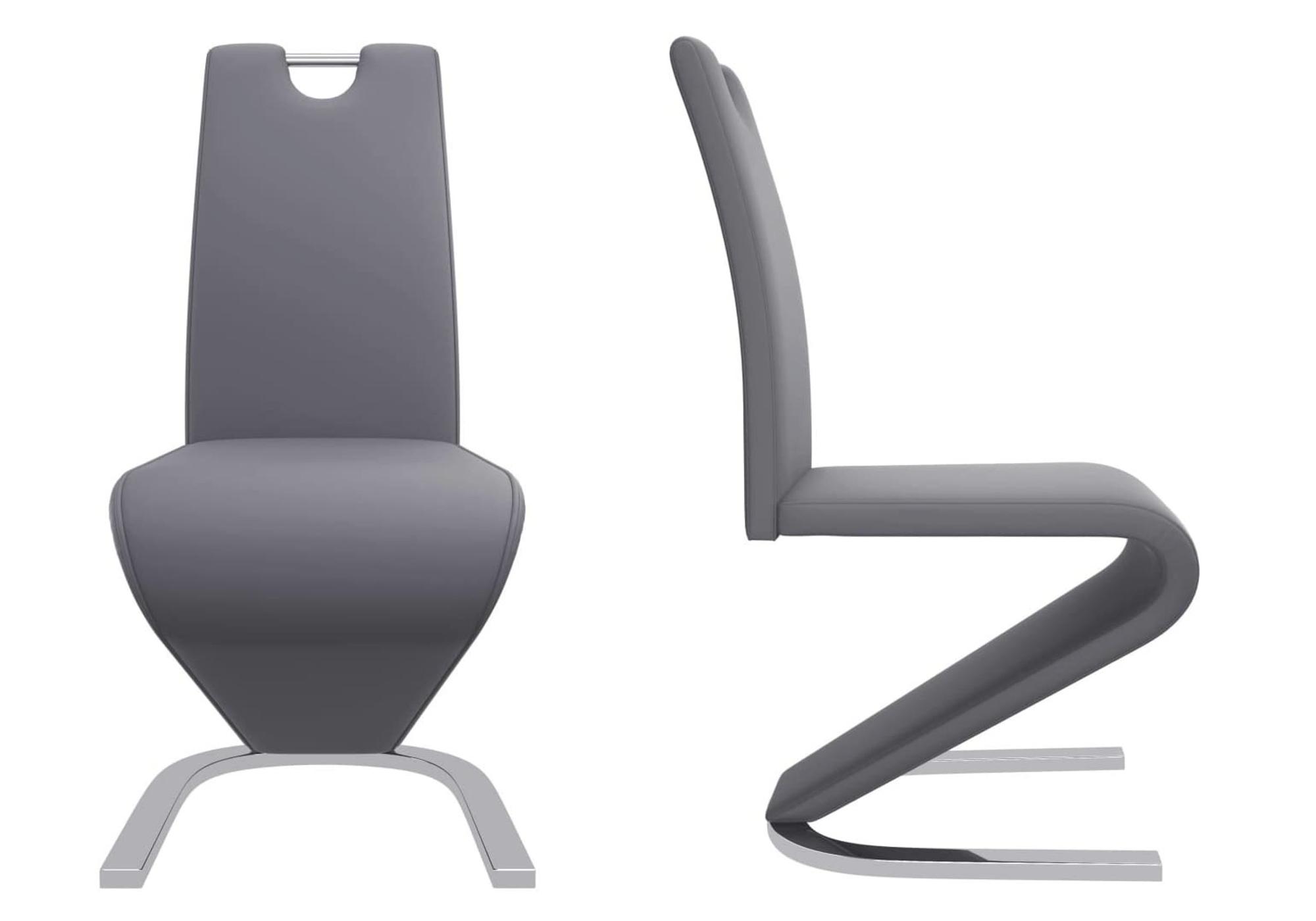 Chaises design chromé gris AÉRIS