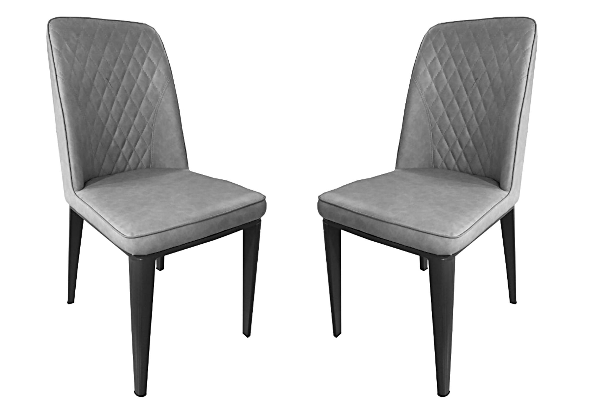 Lot 6 chaises matelassée gris RAY