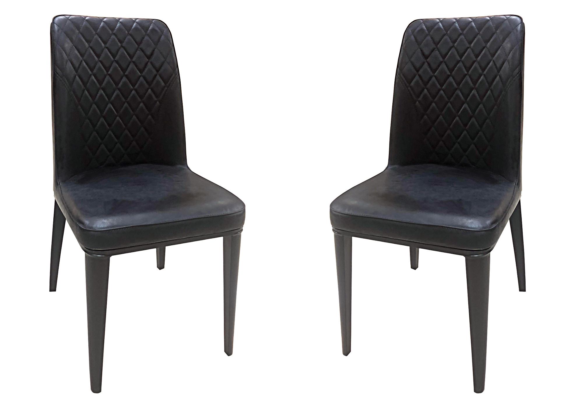Lot 6 chaises matelassée noir RAY