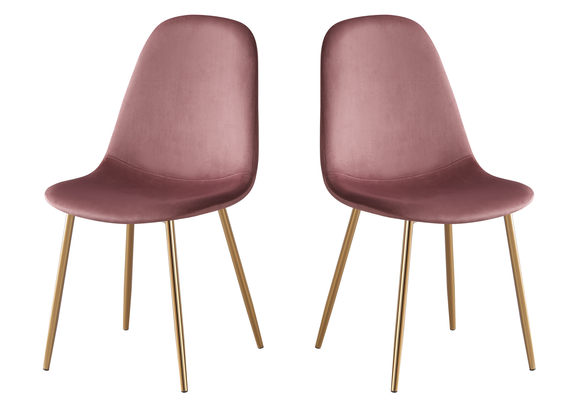 Chaises scandinave velours rose LOA