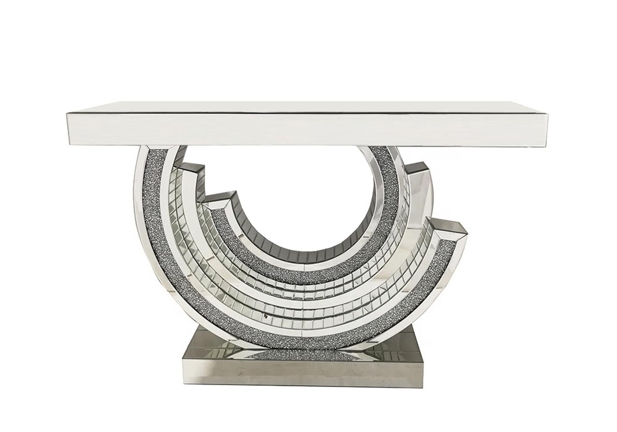 Console miroir design diamant AVA