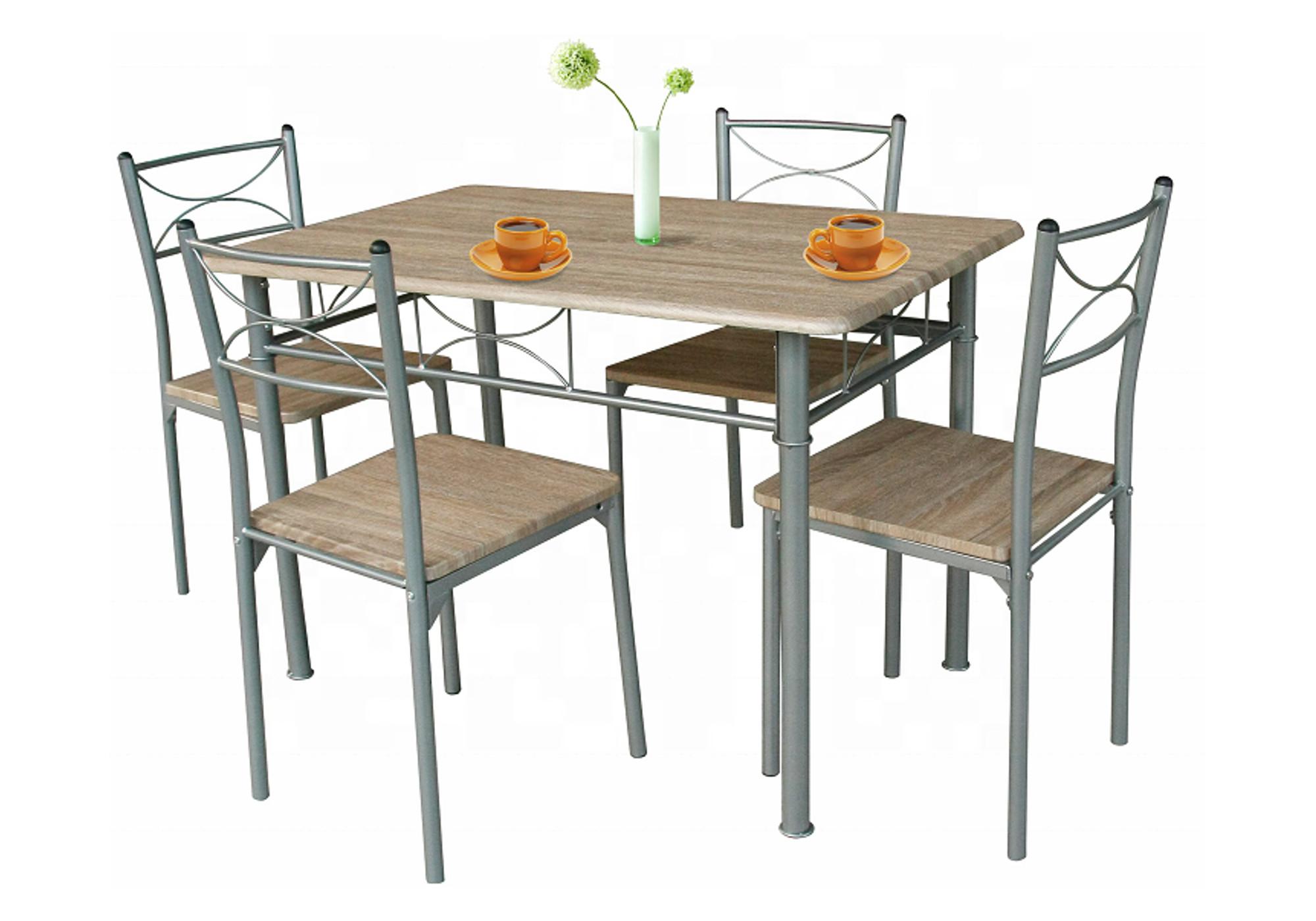 Ensemble table 4 chaises chêne IDIL