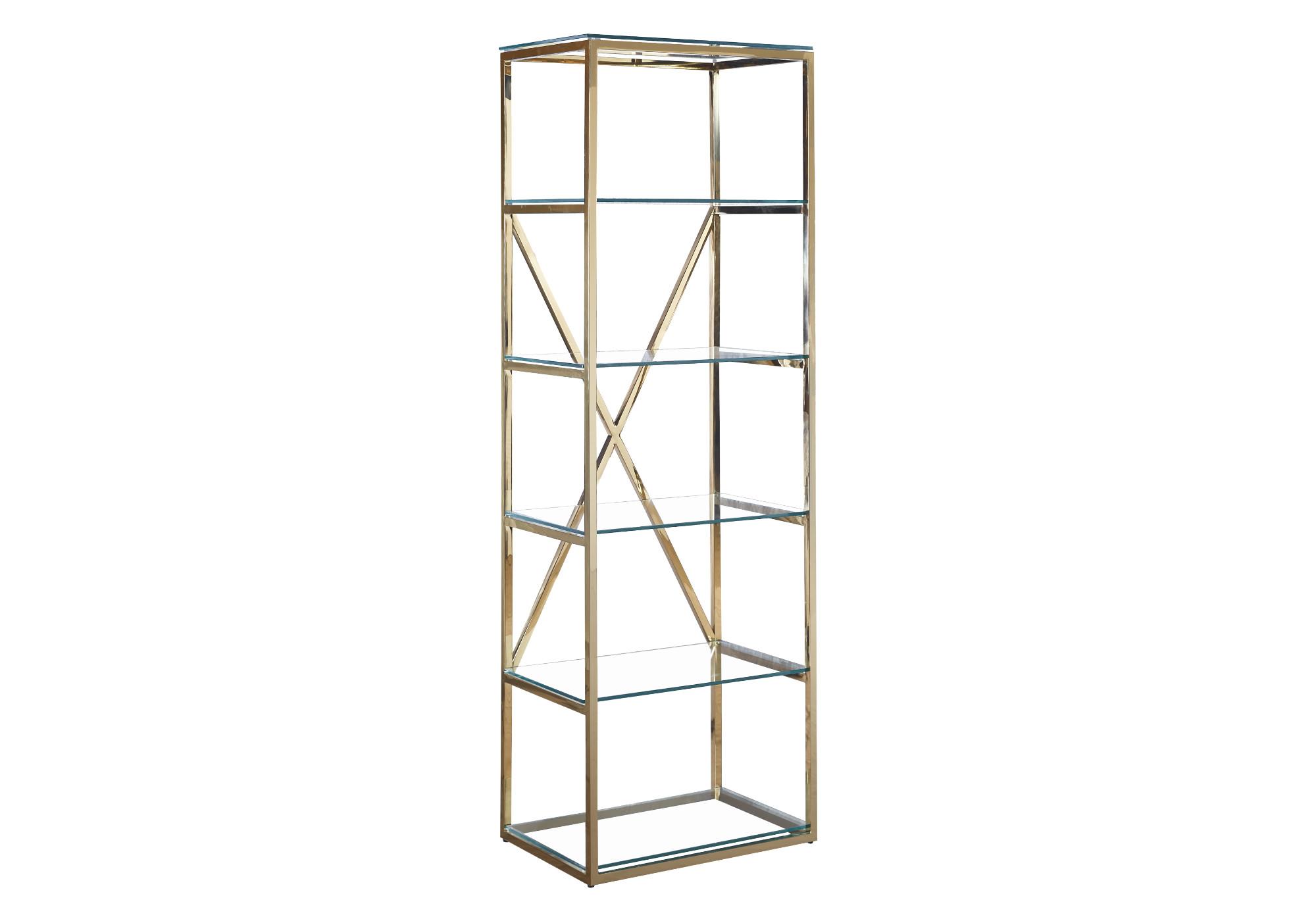Étagère design doré verre OREA