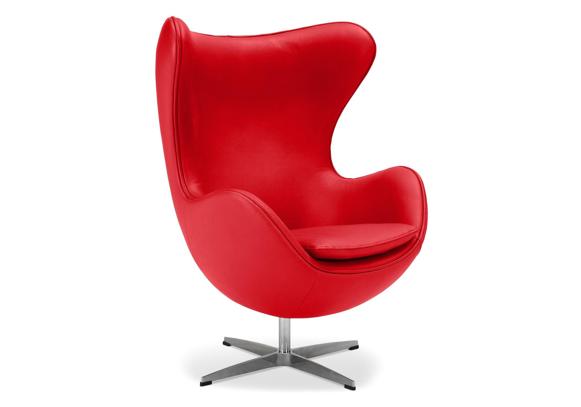 Fauteuil design oeuf rouge EGGO