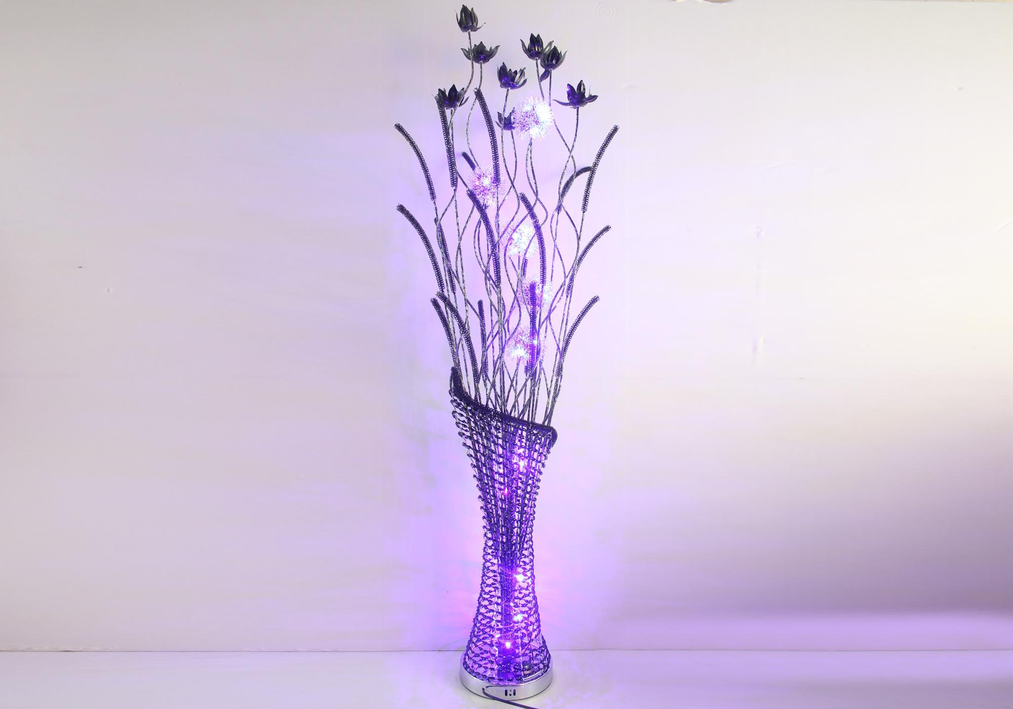 Lampadaire aluminium fleurs led ARIA.1
